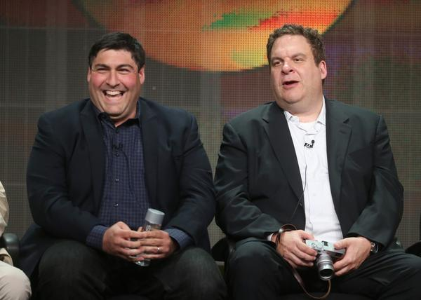 Adam F. Goldberg and Jeff Garlin of 'The Goldbergs'