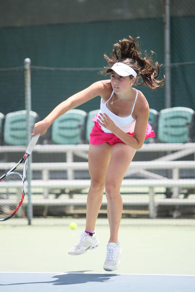 Glenbrook South tennis player Annemarie Emme plans to help her team win conference this season.
