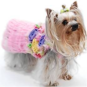 This Ka-bloom sundress for designer dogs retails for $95 at Pucci and Catana, an upscale pet boutique in West Palm Beach.