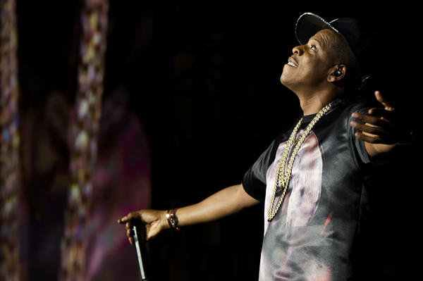 "Jay-Z performs at the ""Made In America"" music festival in Philadelphia."