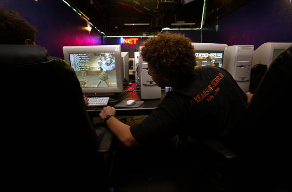 INET Cyber Cafe in Westminster, which offers late-night internet connectivity and cyber gaming.