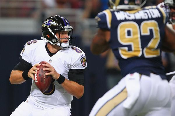The Baltimore Ravens Friday cut former Chicago Bear Caleb Hanie.