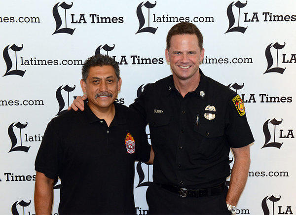 Firefighter Cruz Macias, left, and Fire Capt. Mark Curry of the Los Angeles Fire Department will be facing off at The Taste this weekend.