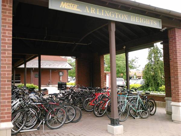 There has been an increase in bike thefts in the village, including at the downtown Arlington Heights Metra station.