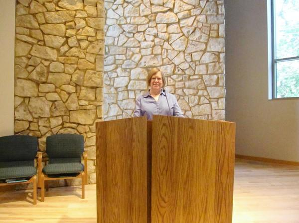 The Rev. Emmy Lou Belcher says the new eco-friendly addition to the DuPage Unitarian Universalist Church in Naperville provides a larger and more inspiring space for its 312 members.