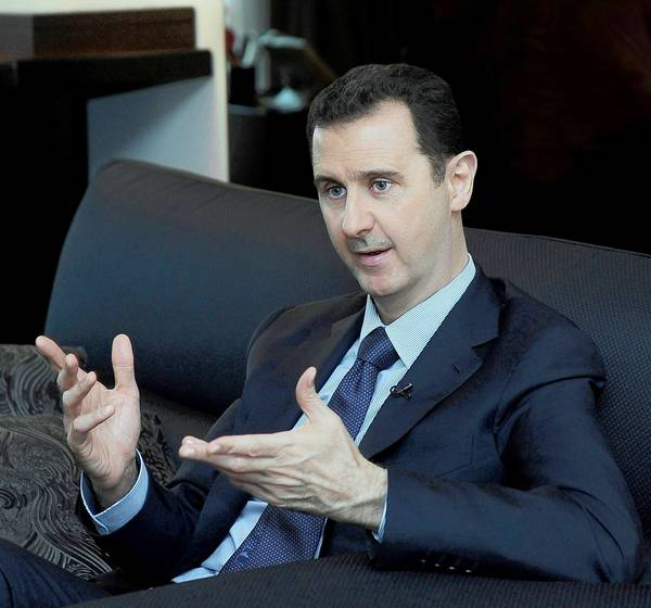 "President Bashar Assad and other Syrian officials are framing any U.S. assault as the inevitable outcome of what Assad has always called a ""foreign-backed conspiracy"" against his government, not an internal uprising."