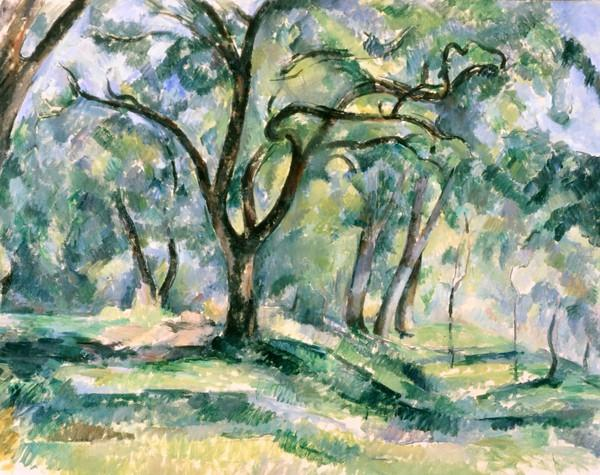 "During Jacqueline Kennedy's televised White House tour in 1962, viewers could see Paul Cezanne's ""The Forest"" hanging above a table in the Green Room."