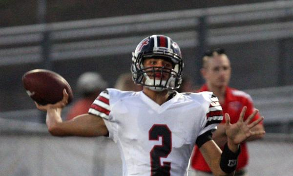 Hart quarterback Brady White showcased his talents Friday in the Indians' season-opening win over Corona Santiago.