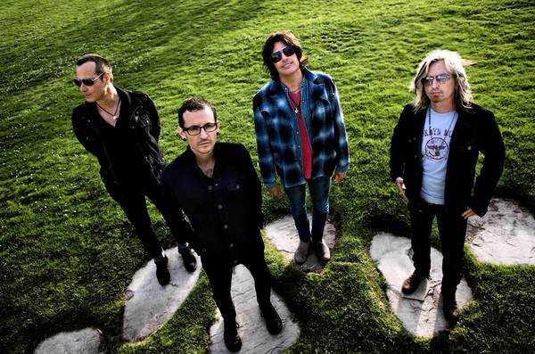 Stone Temple Pilots -- Robert DeLeo (left), Chester Bennington, Dean DeLeo and Eric Kretz -- opens its first tour with Bennington as lead singer Sept. 4 at Sands Bethlehem Event Center.