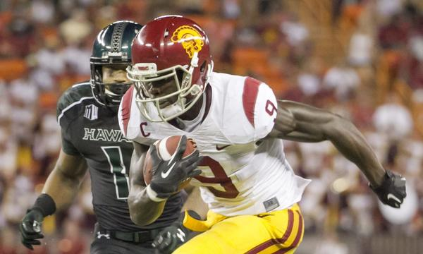 USC wide receiver Marqise Lee didn't have his best game against Hawaii on Thursday.
