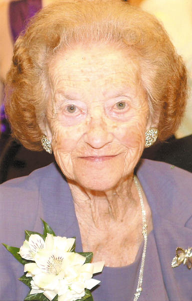 Lucille O'Brien was 94 in this photo taken at the wedding of one of her granddaughters in the summer of 2012.