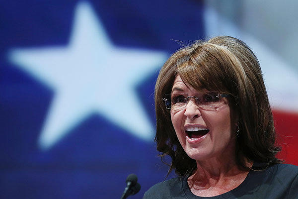 Sarah Palin earlier this year in Houston.