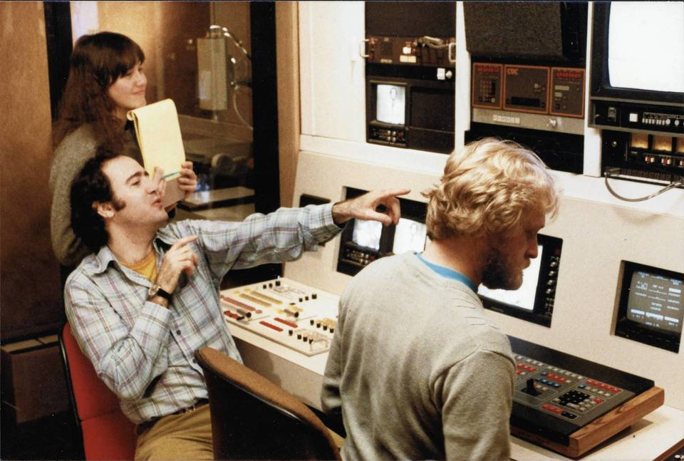 From left: Lynne Margulies, Andy Kaufman and Joe Orr (co-director of the film 'I'm from Hollywood') in an editing room in the early 1980s, not long before Kaufman's death.