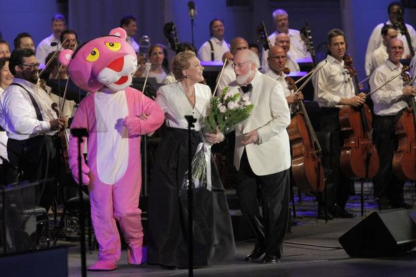 Julie Andrews and John Williams at the Hollywood Bowl