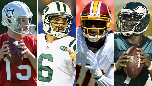 Matt Flynn, Mark Sanchez, Robert Griffin III, Michael Vick