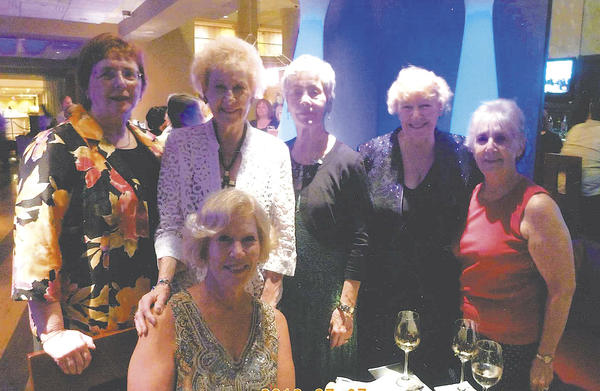 Representing Sigma Chapter of Maryland at the 28th international convention of Alpha Delta Kappa in Washington, D.C., are, standing, from left, Sharon Chirgott, Patricia Leonard, Mary Ann Kriner, Nina Wells and Bev Kriner. Seated is Cathy Grantham. Absent from the photo is Peggy Rohr.