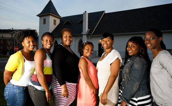 Members of the St. Mark's United Methodist Church Young Adult Ministry are orgaizing this year's Emancipation Day celebration. From left are ministry members Danielle Gibson, Tenaya Gibson, Shantel Thomas, Bria Wilson, Nicole NIcholson, Tanya Johnson and Chantel Ashley.