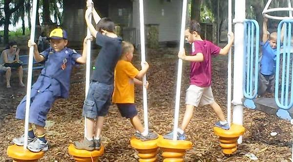 Cub Scouts have fun during the Back to the Pack event at Hickory Point Recreation Facility in Tavares.
