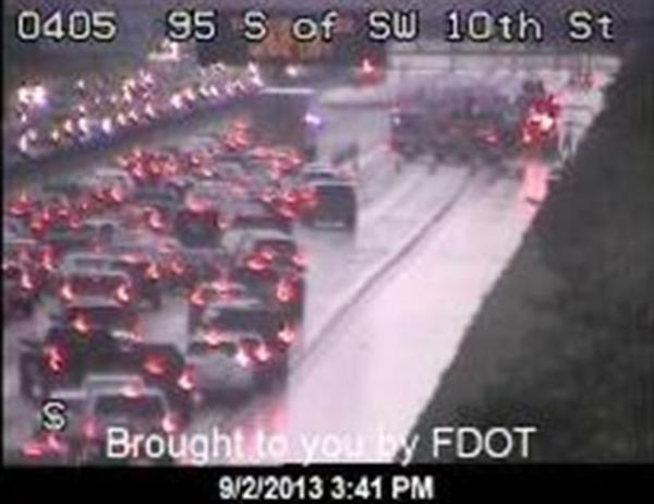 Labor Day crash clog I-95 in Deerfield Beach