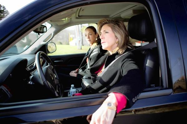 "Yolanda McClary and Kelly Siegler in a scene from ""Cold Justice."""