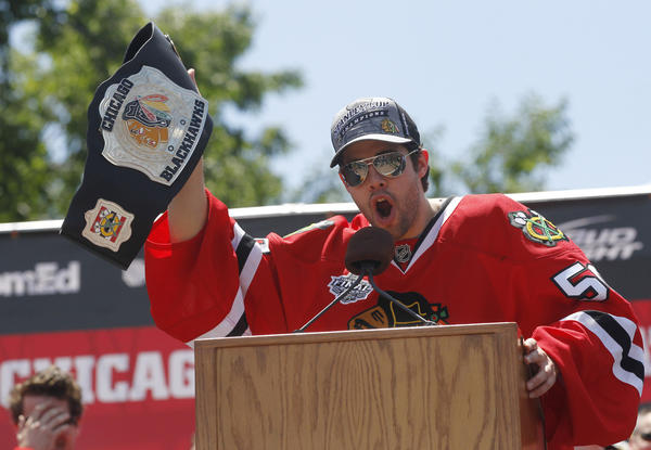 The Hawks gave Corey Crawford a six-year, $36 million contract extension.