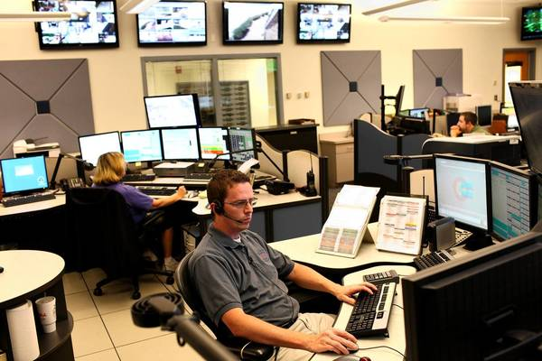 Brien Lee, a dispatcher and CAD administrator, works at the Regional 911 Communication Center in York County in June 2012. This joint center covers York County, Poquoson and the city of Williamsburg.
