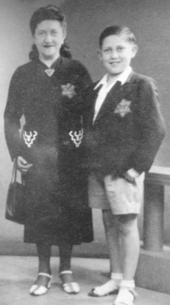 Heinz Najman, right, is seen with his mother, Chana Najman, in this undated photo.