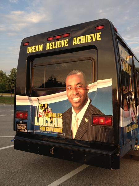 Republican Charles Lollar kicked off his campaign for governor Tuesday with a four-day, 17-stop bus tour of Maryland.
