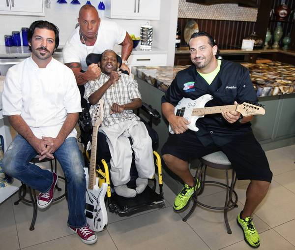 Chef Fulvio Sardelli Jr., left, Chef Steve Martorano, Lennie and Anthony Billisi