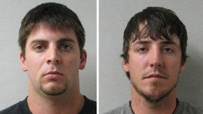 Craig Tyler Peacock (left) and Jarrett Mathis Chandler have been charged in the murder of Kevin M. Figaniak, a Pennridge graduate attending Wheeling Jesuit University in West Virginia.