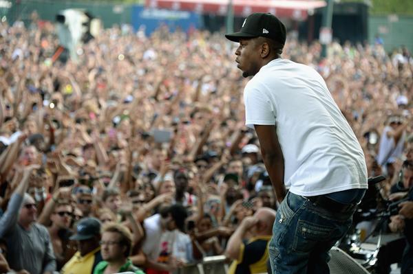 Kendrick Lamar performs during the 2013 Budweiser Made In America Festival at Benjamin Franklin Parkway in Philadelphia.