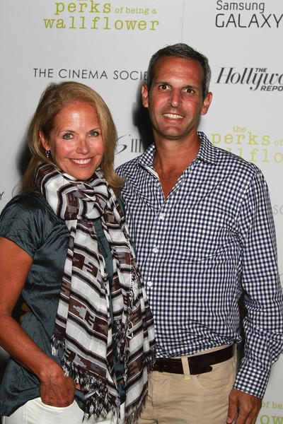 "Katie Couric and John Molner at a screening for ""The Perks Of Being A Wallflower"" in September 2012."