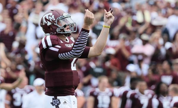 "Texas A&M quarterback Johnny Manziel was ""money"" against Rice on Saturday."