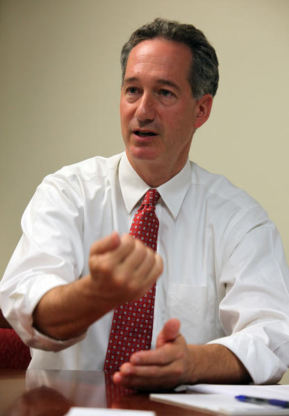 Chicago Inspector General Joseph Ferguson speaks to reporters in his office in 2011.