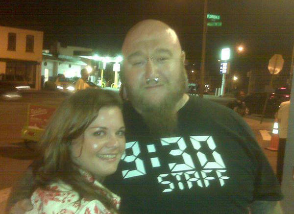 Timonium resident Jess Pfohl (left) and Josh Burdette outside of the 9:30 Club in 2010.