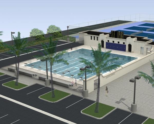 Artist rendering of new Notre Dame pool