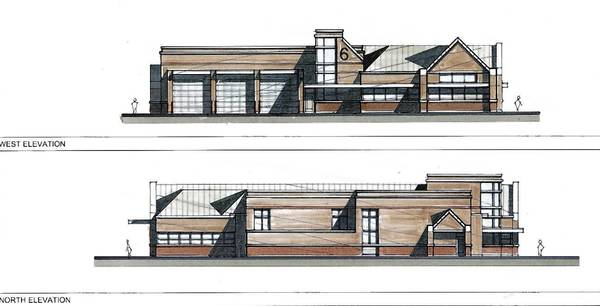 Rendering of a proposed new Glenview Fire Department headquarters.
