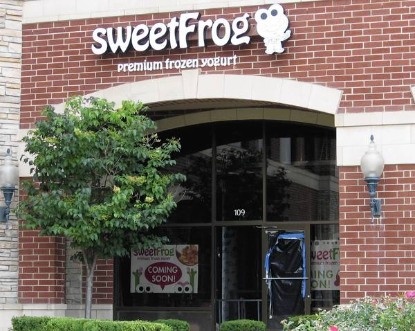 Sweet Frog Premium Frozen Yogurt opened last week at 9645 Lincoln-Way Lane in Frankfort.