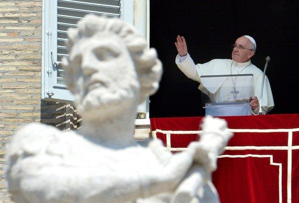 Pope Francis appealed during his Sunday appearance at St. Peter's Square for a day of fasting and prayer for peace in Syria. Although he has condemned the use of chemical weapons in Syria's civil war, he appears to be lobbying against threatened U.S.-led airstrikes.