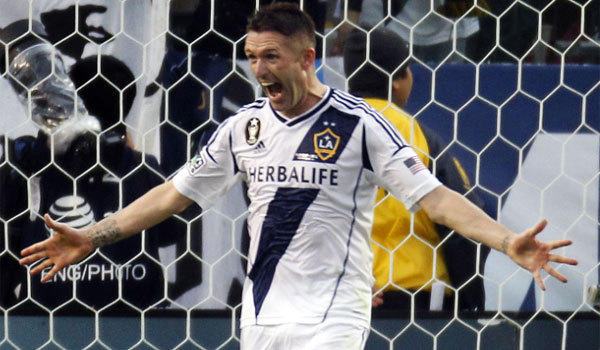 Galaxy forward Robbie Keane