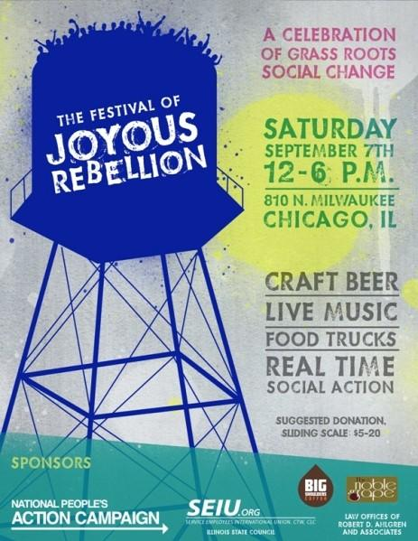 The first-ever Festival of Joyous Rebellion will take place this Saturday from 12-6 P.M.