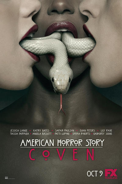"The poster for FX's ""American Horror Story: Coven"" would have Samuel L. Jackson screaming profanities. ""Get those mother[bleep]ing snakes outta my mother[bleep]ing mouth!"" ""Coven"" premieres 9 p.m. CT Oct. 9 on FX. Read more about ""Coven"" here."