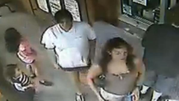 A group of women walked away with a pair of iPads belonging to two boys. Surveillance video caught the whole thing.