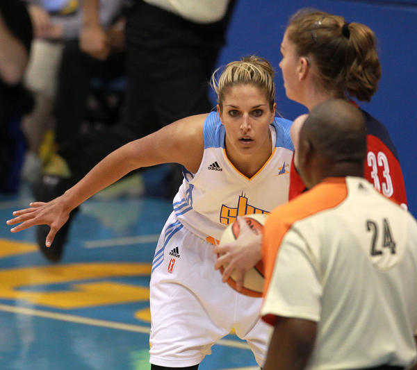 Sky forward Elena Delle Donne has dominated rookie of the month voting in the WNBA.