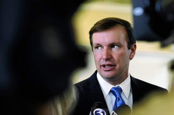 U.S. Senator Chris Murphy holds a press conference about possible U.S. intervention in Syria. Murphy said he is hesitant to get involved, but will take part in discussions in Washington. He spoke to the media at the Lyceum in Hartford just before catching a flight to Washington.