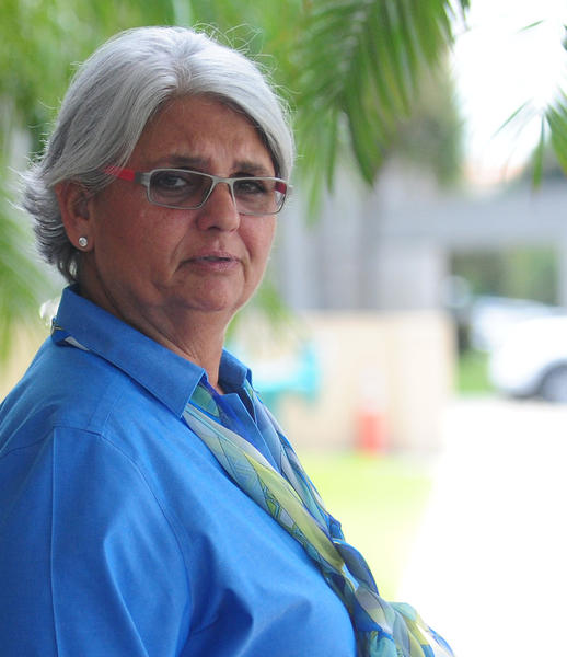 Rose Marks, 62, of Fort Lauderdale, pictured outside the federal courthouse in West Palm Beach during her trial in September 2013. She was convicted of running a massive fraud on customers of her family's psychic and fortune-telling stores in South Florida and New York City. Joe Cavaretta, SunSentinel (c)2013
