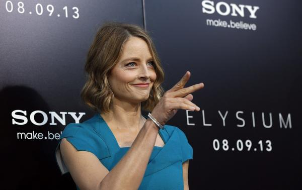 "Cast member Jodie Foster at the world premiere of ""Elysium"" in Los Angeles, August 7, 2013."