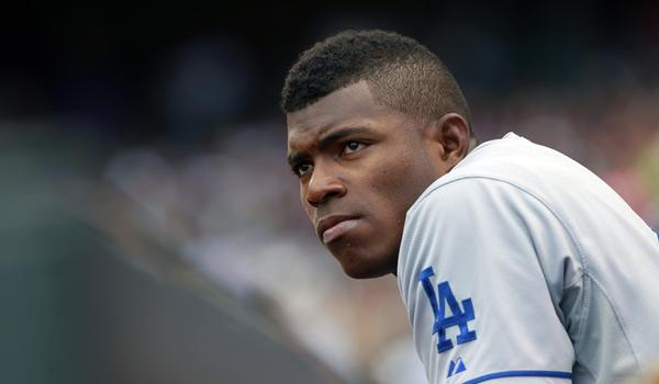 Dodgers outfielder Yasiel Puig will not play Tuesday against the Colorado Rockies.