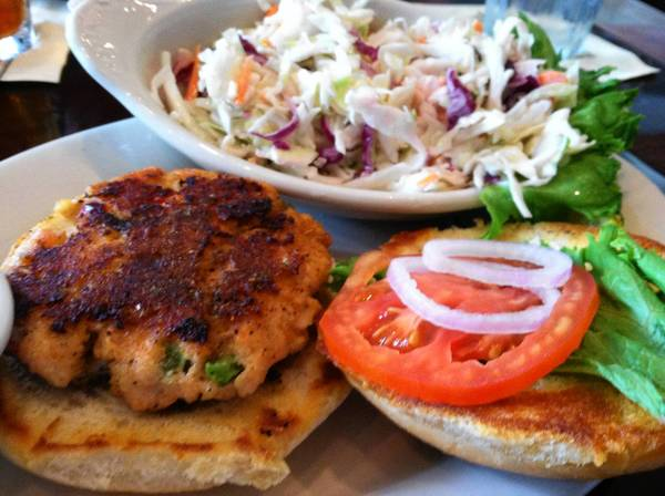 Food Find; Salmon cake sandwich at Seasons Restaurant in Williamsburg