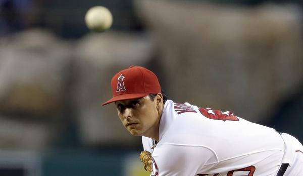 Angels starter Jason Vargas delivers a pitch during the team's 7-1 loss to the Tampa Bay Rays.